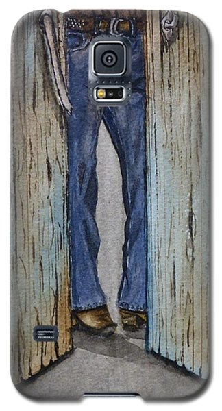 Galaxy S5 Case featuring the painting Blue Jeans Looking Good by Kelly Mills