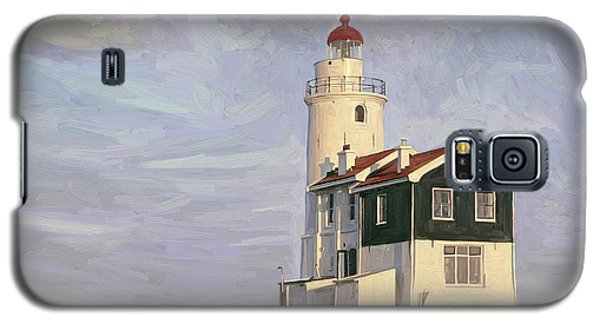 Galaxy S5 Case featuring the painting Het Paard Light House by Nop Briex