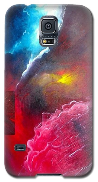 Galaxy S5 Case featuring the painting HEY by Carrie Maurer
