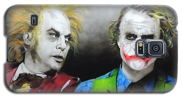Health Ledger - ' Hey Why So Serious? ' Galaxy S5 Case by Christian Chapman Art