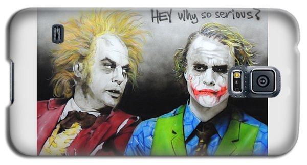 Heath Ledger Galaxy S5 Case - Hey, Why So Serious? by Christian Chapman Art