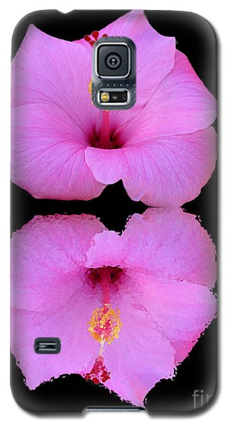 Hibiscus And Reflection Galaxy S5 Case by Mariarosa Rockefeller