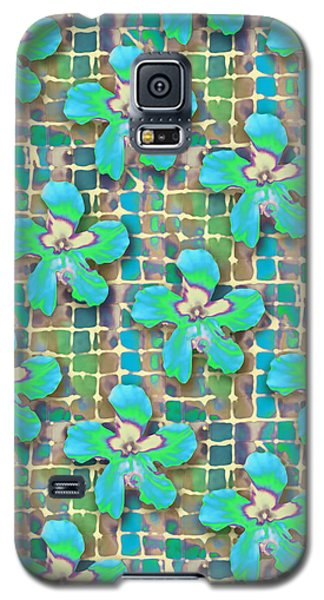 Hibiscus Blue Water Galaxy S5 Case