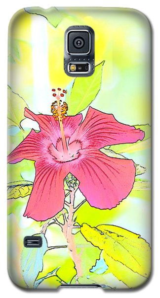 Galaxy S5 Case featuring the photograph Hibiscus Dream 2 by Cathy Shiflett