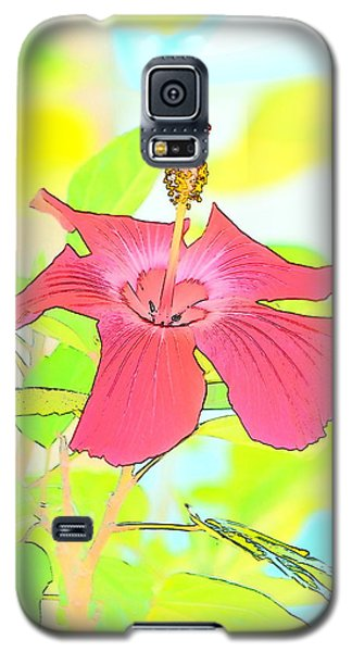 Galaxy S5 Case featuring the photograph Hibiscus Dream by Cathy Shiflett