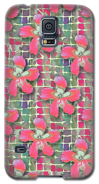 Hibiscus Pink Water Galaxy S5 Case