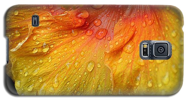 Galaxy S5 Case featuring the photograph Hibiscus Water Drops by Lisa L Silva
