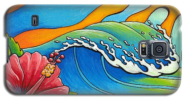 Hibiscus Wave Galaxy S5 Case