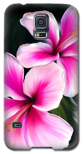 Galaxy S5 Case featuring the painting Hibiscuses by Laura Bell