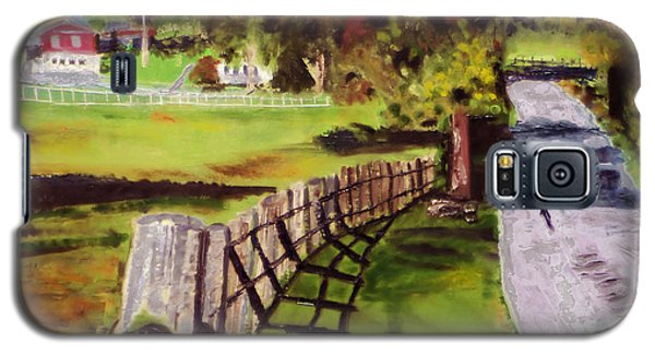 Galaxy S5 Case featuring the painting Hidden Brook Farm by Michael Daniels