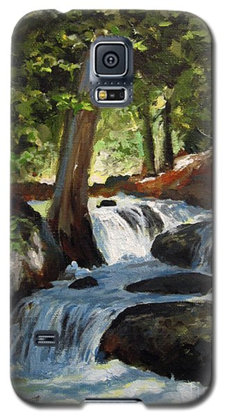 Galaxy S5 Case featuring the painting Hidden Waterfall by Carol Hart
