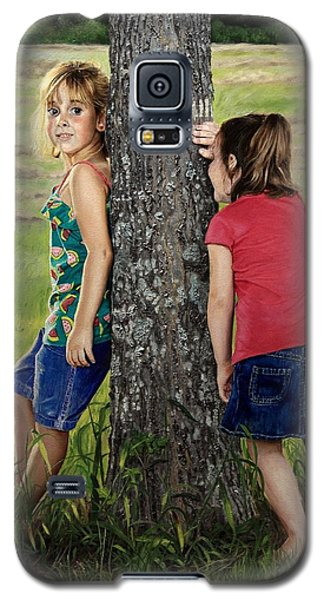 Galaxy S5 Case featuring the painting Hide And Seek by Glenn Beasley
