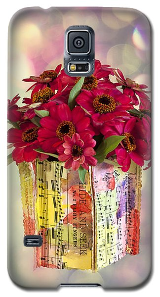 Galaxy S5 Case featuring the photograph Hide And Seek Zinnias by Sandra Foster