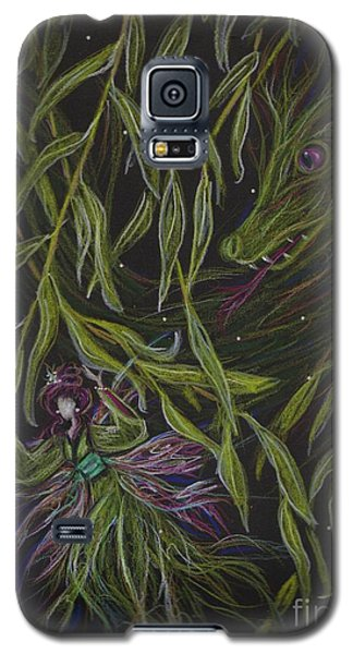 Galaxy S5 Case featuring the drawing Hide And Willow Seeking by Dawn Fairies