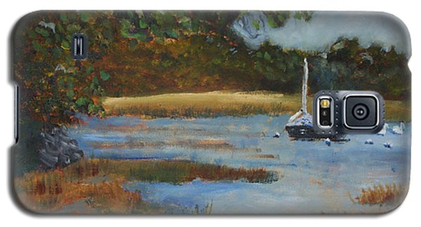 Galaxy S5 Case featuring the painting Hospital Cove by Michael Helfen