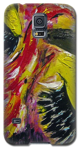 Galaxy S5 Case featuring the painting Hier Au Cirque by Lucy Matta
