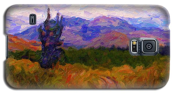 Galaxy S5 Case featuring the digital art High Country Tracks by Chuck Mountain