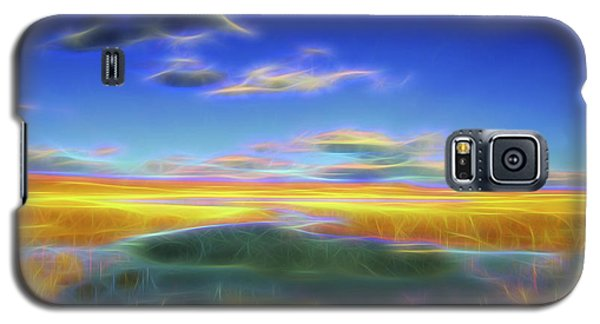 Galaxy S5 Case featuring the digital art High Desert Lake by William Horden