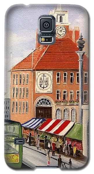 Galaxy S5 Case featuring the painting High Street by Helen Syron