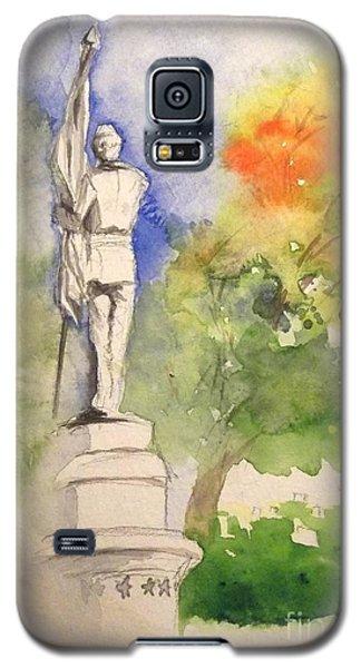 Highland Cemetery-plein Air-ypsilanti Michigan 1 Galaxy S5 Case by Yoshiko Mishina