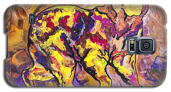 Galaxy S5 Case featuring the painting Highland's North Carolina Bear by Janice Rae Pariza