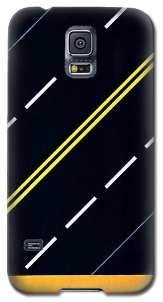 Galaxy S5 Case featuring the painting Highway by Thomas Gronowski
