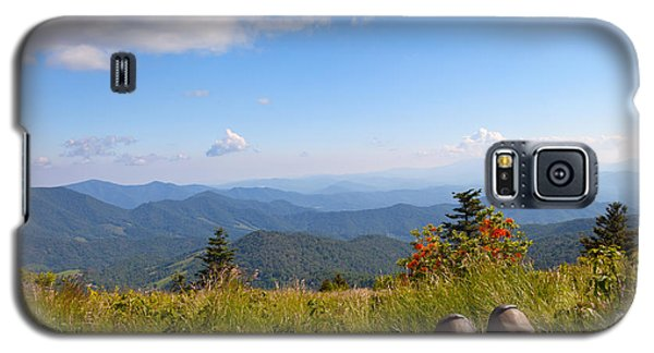 Hikers With A View On Round Bald Near Roan Mountain Galaxy S5 Case