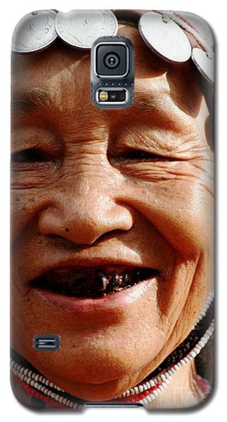 Galaxy S5 Case featuring the photograph Hill Tribe Smile by Nola Lee Kelsey