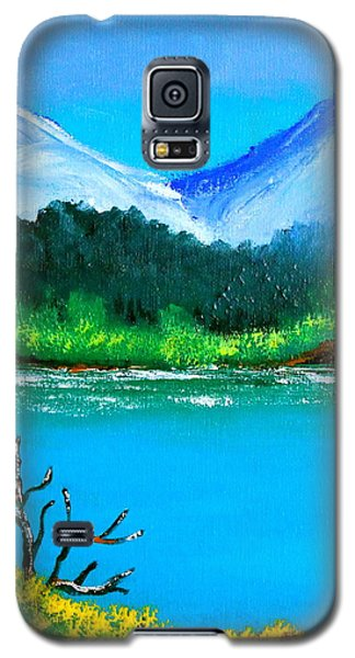 Hills By The Lake Galaxy S5 Case by Cyril Maza