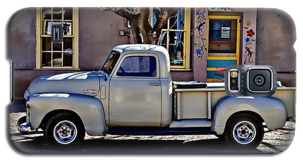 Galaxy S5 Case featuring the painting Hillsboro New Mexico 1949 Gmc 100 by Barbara Chichester