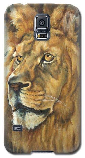 Him - Lion Galaxy S5 Case by Lori Brackett