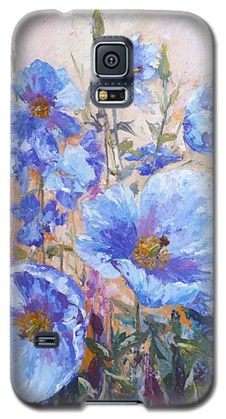 Himalayan Blue Poppies Galaxy S5 Case