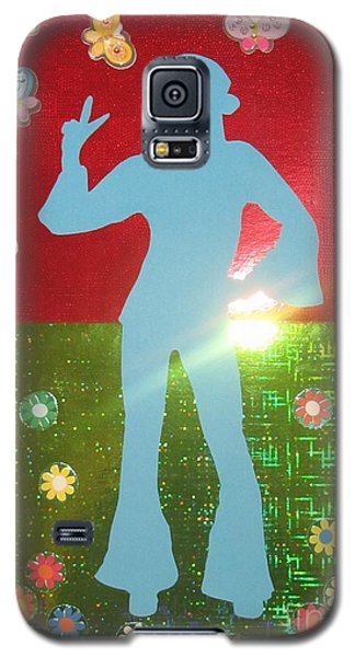 Galaxy S5 Case featuring the mixed media Hippie Girl by Jeepee Aero