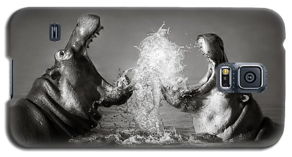 Hippo's Fighting Galaxy S5 Case by Johan Swanepoel