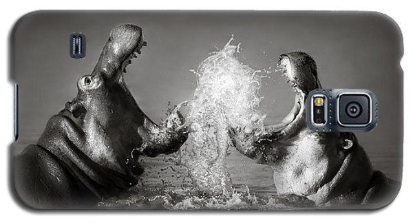 Wildlife Galaxy S5 Case - Hippo's Fighting by Johan Swanepoel