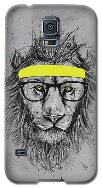 Lion Galaxy S5 Case - Hipster Lion by Balazs Solti