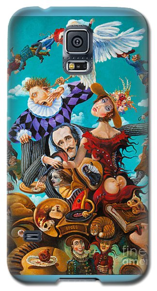 Galaxy S5 Case featuring the painting His Majesty Edgar Allan Poe by Igor Postash