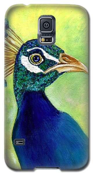 Galaxy S5 Case featuring the painting His Royal Nibs  by Jeanne Kay Juhos