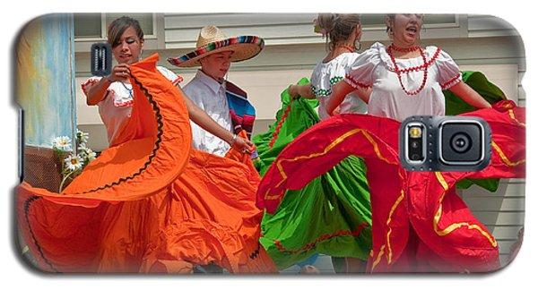 Hispanic Women Dancing In Colorful Skirts Art Prints Galaxy S5 Case