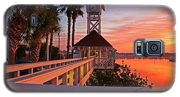 Historic Bridge Street Pier Sunrise Galaxy S5 Case by HH Photography of Florida