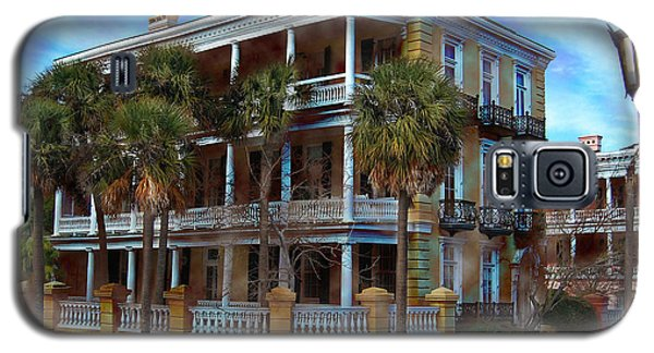 Galaxy S5 Case featuring the photograph Historic Charleston Mansion by Kathy Baccari