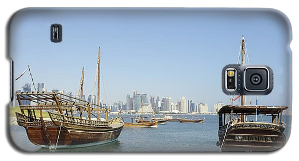 Historic Dhows And Doha Skyline Galaxy S5 Case