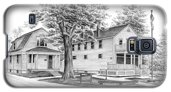 Galaxy S5 Case featuring the drawing Historic Jaite Mill - Cuyahoga Valley National Park by Kelli Swan