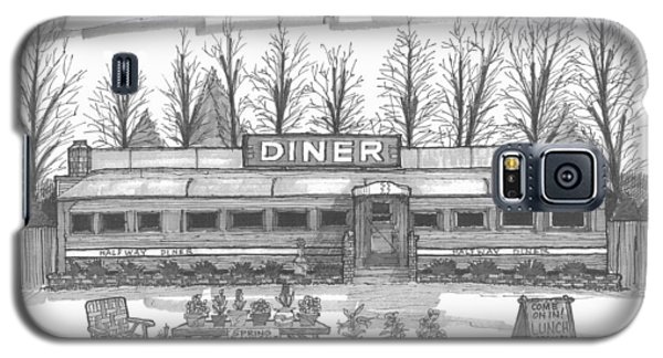 Historic Village Diner Galaxy S5 Case