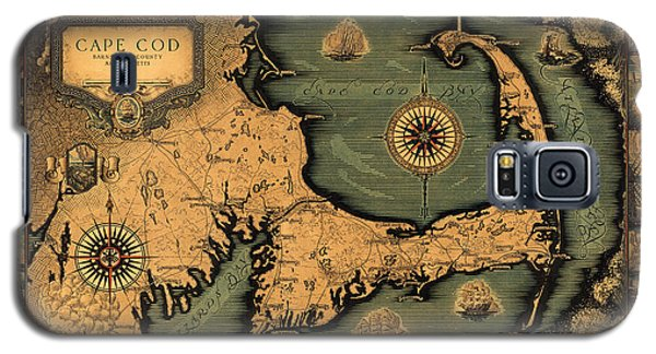 Historical Map Of Cape Cod Galaxy S5 Case by Andrew Fare