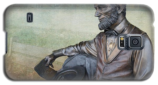 History - Abraham Lincoln Contemplates -  Luther Fine Art Galaxy S5 Case