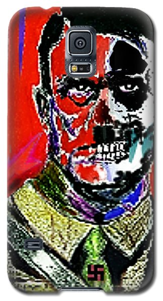 Galaxy S5 Case featuring the painting Hitler  - The  Face  Of  Evil by Hartmut Jager
