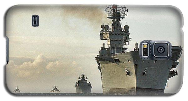 Hms Ark Royal  Galaxy S5 Case by Paul Fearn