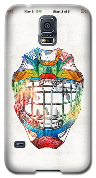 Hockey Art - Goalie Mask Patent - Sharon Cummings Galaxy S5 Case