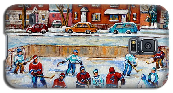 Hockey Rink At Van Horne Montreal Galaxy S5 Case